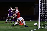 Vivianne Miedema of Arsenal scores the first goal for her team during Arsenal Women vs Bristol City Women, FA Women's Super League Football at Meadow Park on 14th March 2019