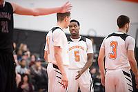 The Occidental College men's basketball team take on Chapman University in Rush Gym, Jan. 13, 2016.<br /> (Photo by Marc Campos, Occidental College Photographer)