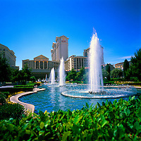 Las Vegas, Nevada, USA - Caesars Palace and Fountains, along The Strip (Las Vegas Boulevard)