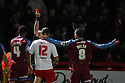 Ben May of Stevenage is shown red card. - Stevenage v Tranmere Rovers - npower League 1 - Lamex Stadium, Stevenage - 17th December 2011  .© Kevin Coleman 2011 ... ....  ...  . .