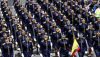 BOGOTA -COLOMBIA , 20- Julio-2016. Desfile Militar con motivo del 206° Aniversario del Día de la Independencia Nacional./ Military parade to mark the 206 anniversary of the National Independence Day. Photo: VizzorImage / Felipe Caicedo / Staff