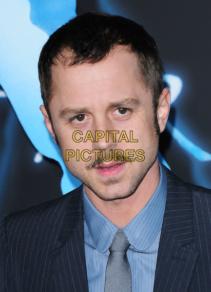 GIOVANNI RIBISI.The Twentieth Century Fox World Premiere of Avatar held at The Grauman's Chinese Theatre in Hollywood, California, USA. .December 16th, 2009.headshot portrait tie blue facial hair moustache mustache pinstripe navy .CAP/RKE/DVS.©DVS/RockinExposures/Capital Pictures.