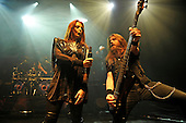 EPICA - vocalist Simone Simons and bassist Rob van der Loo - performing live at the Empire in Shepherds Bush London UK - 03 Feb 2017.  Photo credit: Zaine Lewis/IconicPix