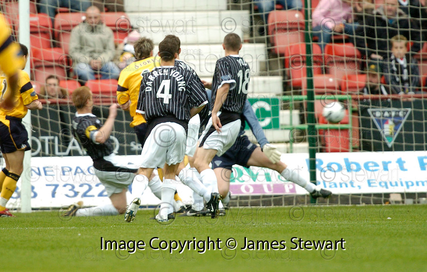 04/11/2006       Copyright Pic: James Stewart.File Name :sct_jspa01_dunfermline_v_falkirk.ANTHONY STOKES SCORES FALKIRK'S FIRST.James Stewart Photo Agency 19 Carronlea Drive, Falkirk. FK2 8DN      Vat Reg No. 607 6932 25.Office     : +44 (0)1324 570906     .Mobile   : +44 (0)7721 416997.Fax         : +44 (0)1324 570906.E-mail  :  jim@jspa.co.uk.If you require further information then contact Jim Stewart on any of the numbers above.........