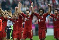 FUSSBALL   1. BUNDESLIGA  SAISON 2012/2013   2. Spieltag FC Bayern Muenchen - VfB Stuttgart      02.09.2012 Philipp Lahm, Toni Kroos, Javi Martinez und Dante (v. li., FC Bayern Muenchen)
