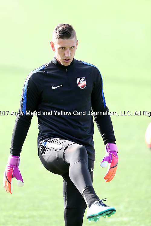 11 January 2017: David Bingham. The United States Men's National Team held their first training session under new head coach Bruce Arena on The Murphy Family Field at the StubHub Center in Carson, California.