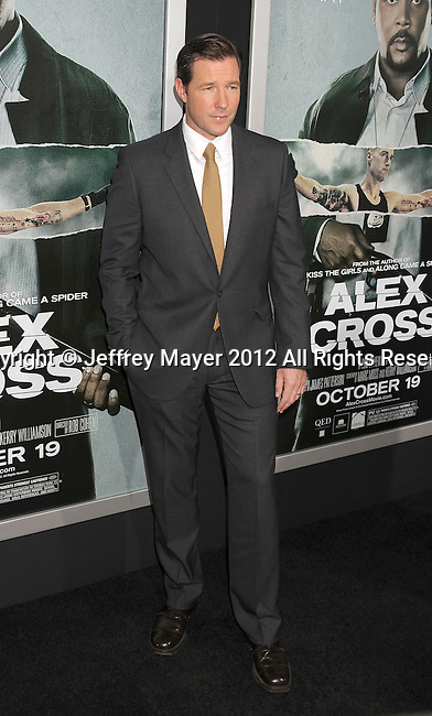 HOLLYWOOD, CA - OCTOBER 15: Edward Burns arrives at the Los Angeles premiere of 'Alex Cross' at the ArcLight Cinemas Cinerama Dome on October 15, 2012 in Hollywood, California.