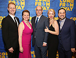 "David Hein, Irene Sankoff, Christopher Ashley, Kelly Devine and Ian Eisendrath attends the ""Come From Away"" Broadway Opening Night After Party at Gotham Hall on March 12, 2017 in New York City."