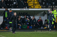 Wycombe Wanderers Manager Gareth Ainsworth and his dugout during the Sky Bet League 2 match between Notts County and Wycombe Wanderers at Meadow Lane, Nottingham, England on 10 December 2016. Photo by Andy Rowland.
