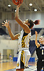 Maia Moffitt #12 of St. Anthony's drives to the hoop for two points during the NSCHSAA varsity girls basketball final against St. Mary's at Hofstra University on Tuesday, Mar. 1, 2016. She led St. Anthony's to a 79-51 win.
