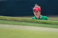 Gaby Lopez (MEX) peaks at the pin from the trap on 4 during round 4 of the 2019 US Women's Open, Charleston Country Club, Charleston, South Carolina,  USA. 6/2/2019.<br /> Picture: Golffile | Ken Murray<br /> <br /> All photo usage must carry mandatory copyright credit (© Golffile | Ken Murray)