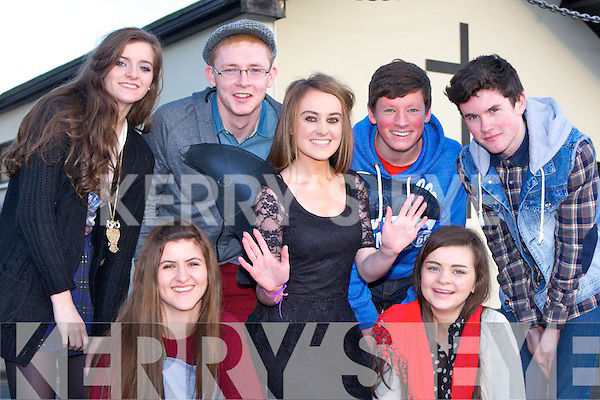 Na Gaeil novelty act who performed in the Scor na nOg Munster semi finals in Millstreet on Sunday front row l-r: Meg Hurley and Clodagh Griffin. Back row: Allison Moriarty, Cian Quirke, Kate Sheehy, Connor O'Donoghue and Fionán Carroll