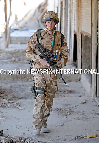 "Prince Harry on patrol through the deserted town of Garmisir close to FOB Delhi (forward operating base), where he was posted in Helmand province Southern Afghanistan..Photo Credit: NEWSPIX INTERNATIONAL..* NO UK USE UNTIL 18/03/2008 *.**ALL FEES PAYABLE TO: ""NEWSPIX INTERNATIONAL""**..PHOTO CREDIT MANDATORY!!: NEWSPIX INTERNATIONAL(Failure to credit will incur a surcharge of 100% of reproduction fees)..IMMEDIATE CONFIRMATION OF USAGE REQUIRED:.Newspix International, 31 Chinnery Hill, Bishop's Stortford, ENGLAND CM23 3PS.Tel:+441279 324672  ; Fax: +441279656877.Mobile:  0777568 1153.e-mail: info@newspixinternational.co.uk"