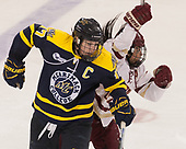 Jessica Bonfe (Merrimack - 17), Kristyn Capizzano (BC - 7) - The number one seeded Boston College Eagles defeated the eight seeded Merrimack College Warriors 1-0 to sweep their Hockey East quarterfinal series on Friday, February 24, 2017, at Kelley Rink in Conte Forum in Chestnut Hill, Massachusetts.The number one seeded Boston College Eagles defeated the eight seeded Merrimack College Warriors 1-0 to sweep their Hockey East quarterfinal series on Friday, February 24, 2017, at Kelley Rink in Conte Forum in Chestnut Hill, Massachusetts.