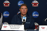 10 December 2009: Head coach Elmar Bolowich. The University of North Carolina Tar Heels held a press conference at WakeMed Soccer Stadium in Cary, North Carolina on the day before playing Akron in an NCAA Division I Men's College Cup semifinal game.