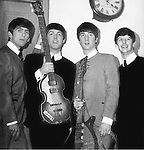 Beatles April 1963 George Harrison Paul McCartney John Lennon and Ringo Starr at Royal Albert Hall in London