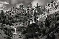 Waterfalls on Tropic Ditch. Bryce National Park, Utah