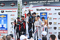 IMSA WeatherTech SportsCar Championship<br /> Chevrolet Sports Car Classic<br /> Detroit Belle Isle Grand Prix, Detroit, MI USA<br /> Saturday 3 June 2017<br /> 31, Cadillac DPi, P, Dane Cameron, Eric Curran, 10, Cadillac DPi, P, Ricky Taylor, Jordan Taylor, 70, Mazda DPi, P, Tom Long, Joel Miller<br /> World Copyright: Richard Dole<br /> LAT Images<br /> ref: Digital Image RD_DTW_17_0419