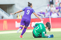 Orlando, FL - Sunday May 14, 2017: Camila celebrates goal during a regular season National Women's Soccer League (NWSL) match between the Orlando Pride and the North Carolina Courage at Orlando City Stadium.