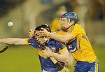 Shane O' Donnell battles for posession with Tipperary's Donagh Maher. Photograph by Declan Monaghan
