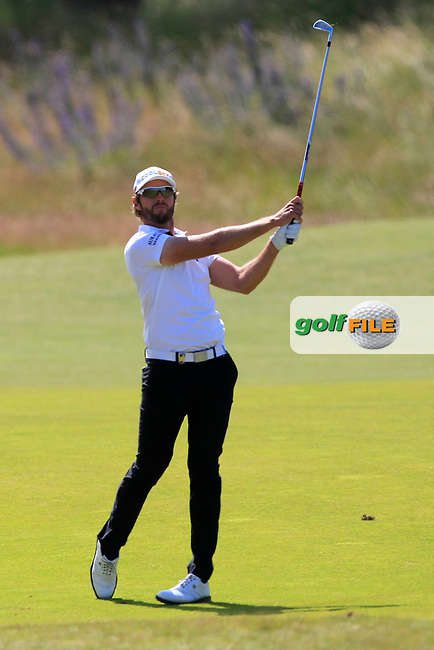 Kalle Samooja (FIN) on the 2nd during Round 4 of the Aberdeen Standard Investments Scottish Open 2019 at The Renaissance Club, North Berwick, Scotland on Sunday 14th July 2019.<br /> Picture:  Thos Caffrey / Golffile<br /> <br /> All photos usage must carry mandatory copyright credit (© Golffile | Thos Caffrey)