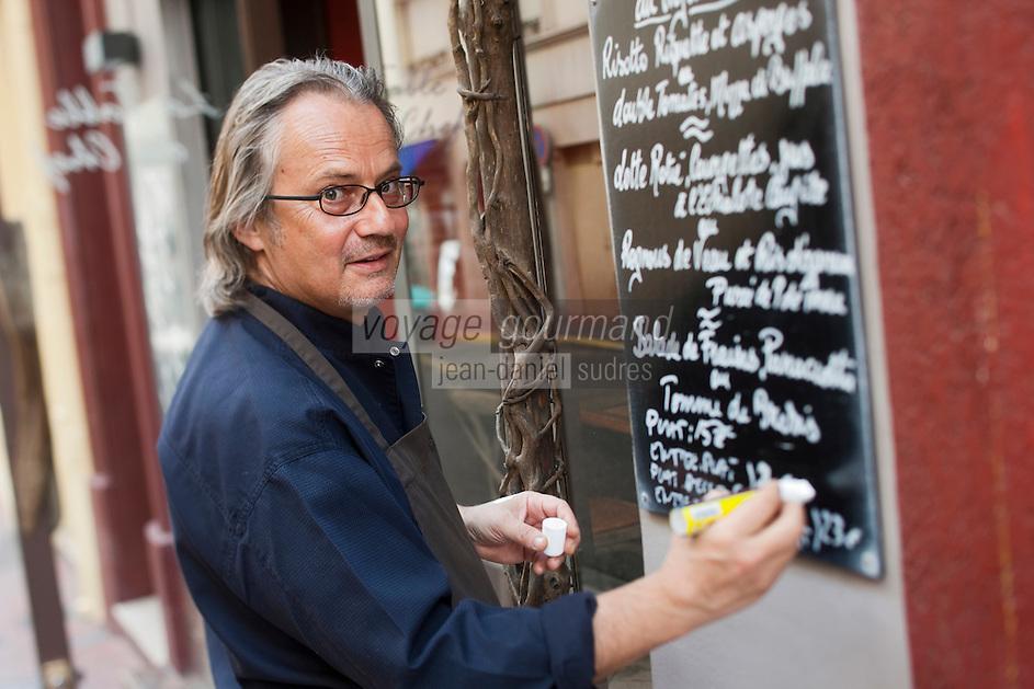 Europe/France/Provence-Alpes-Côte d'Azur/06/Alpes-Maritimes/Cannes: Bruno Gensdarmes chef du restaurant: La Table du Chef [Non destiné à un usage publicitaire - Not intended for an advertising use]