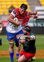 Tyson Maki in action during the Heartland Championship rugby match between Horowhenua Kapiti and Wairarapa Bush at Westpac Stadium in Wellington, New Zealand on Sunday, 1 October 2017. Photo: Dave Lintott / lintottphoto.co.nz