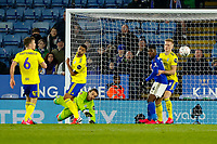 4th March 2020; King Power Stadium, Leicester, Midlands, England; English FA Cup Football, Leicester City versus Birmingham City; Lee Camp of Birmingham City parries a shot clear