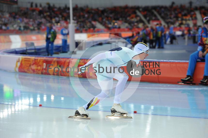 OLYMPICS: SOCHI: Adler Arena, 18-02-2014, Men's 10.000m, Bart Swings (BEL), ©photo Martin de Jong