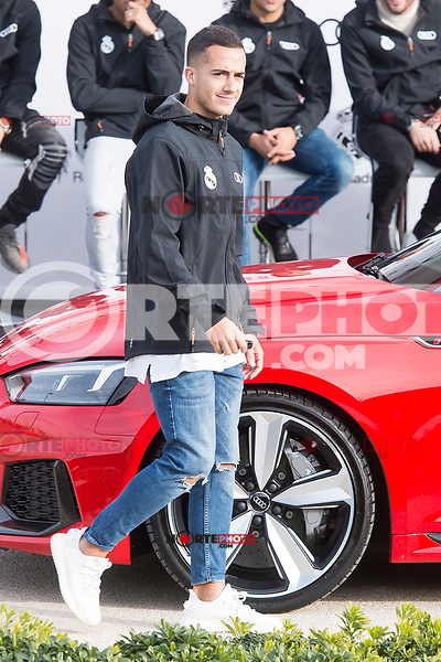 Lucas Vazquez of Real Madrid CF poses for a photograph after being presented with a new Audi car as part of an ongoing sponsorship deal with Real Madrid at their Ciudad Deportivo training grounds in Madrid, Spain. November 23, 2017. (ALTERPHOTOS/Borja B.Hojas) /NortePhoto.com NORTEPHOTOMEXICO