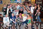 Double 21st: Dan Casey (centre left) and Sean Walsh (centre right) from Spa Road, having a ball with friends and family at their joint 21st birthday party in The Abbey Gate Hotel on Saturday night..