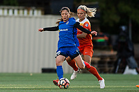 Seattle, Washington -  Saturday April 22, 2017: Rumi Utsugi and Rachel Daly during a regular season National Women's Soccer League (NWSL) match between the Seattle Reign FC and the Houston Dash at Memorial Stadium.