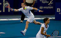Laura Robson (GBR) and Andy Murray (GBR) against Sebine Lisicki (GER) and Philipp Kohlschreiber (GER) in the group B match between Great Britain and Germany. Robson & Murray beat Lisicki & Kohlschreiber 6-3 6-2..International Tennis - Hyundai Hopman Cup XXII - Wed  06 Jan 2010 - Burswood Dome - Perth - Australia ..© Frey, AMN Images, 1st Floor, Barry House, 20-22 Worple Road, London, SW19 4DH.Tel - +44 20 8947 0100