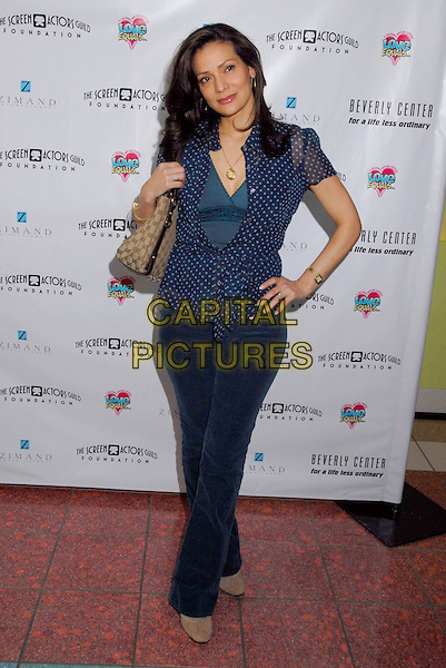 "CONSTANCE MARIE.The Screen Actors Guild Foundation and Zimand Entertainment host prize-winning ceremony for Los Angeles Children's ""Love Equals"" writing contest held at the Beverly Center, 8th Floor Food Court, ,Los Angeles, USA, 14 February 2007..full length blue and white polka dot shirt blouse top hand on hip .CAP/ADM/GB.©Gary Boas/AdMedia/Capital Pictures."