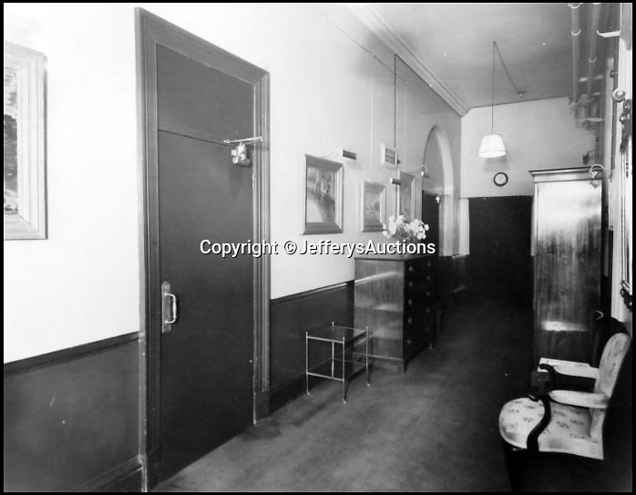 BNPS.co.uk (01202 558833)Pic:  JefferysAuctions/BNPS                               <br /> <br /> A corridor leading to Churchill's War Rooms.<br /> <br /> Remarkable never before seen photos have emerged which reveal what went on in Sir Winston Churchill's War Rooms.<br /> <br /> The candid snaps provide a fascinating glimpse into life inside the iconic bunker where the crucial decisions were taken which won the Second World War.<br /> <br /> In total, there are 27 photos in the album which belonged to photographer Noel Richards, a long serving employee at the War Office.<br /> <br /> He photographed daily the maps in the War Rooms and was granted unprecedented access to Churchill and his inner circle.