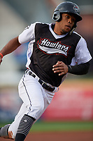 Erie SeaWolves Jose Azocar (24) running the bases during an Eastern League game against the Portland Sea Dogs on June 17, 2019 at UPMC Park in Erie, Pennsylvania.  Portland defeated Erie 6-3.  (Mike Janes/Four Seam Images)