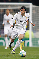 04.03.2012 SPAIN - UEFA Champions League Quarter-Final 2nd  match played between Real Madrid CF vs Apoel FC (5-2) at Santiago Bernabeu stadium. The picture show Ricardo Izecson Kaka (Brazilian midfielder of Real Madrid)