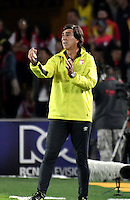 BOGOTA - COLOMBIA - 18-12-2016: Gustavo Costa, coach of Independiente Santa Fe, during a match for the second leg between Independiente Santa Fe and Deportes Tolima, for the final of the Liga Aguila II -2016 at the Nemesio Camacho El Campin Stadium in Bogota city, Photo: VizzorImage / Luis Ramirez / Staff.