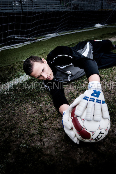 Belgian football player / goal keeper Sammy Bossut (Belgium, 12/02/2013)