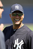 New York Yankees shortstop Derek Jeter #2 before a scrimmage against the USF Bulls at Steinbrenner Field on March 2, 2012 in Tampa, Florida.  New York defeated South Florida 11-0.  (Mike Janes/Four Seam Images)
