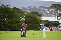 Kyle Stanley (USA) hits his approach shot on 11 during round 3 of the 2019 US Open, Pebble Beach Golf Links, Monterrey, California, USA. 6/15/2019.<br /> Picture: Golffile | Ken Murray<br /> <br /> All photo usage must carry mandatory copyright credit (© Golffile | Ken Murray)
