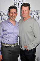 "PAUL J. ALESSI, producer/actor & JOHN NOBLE.""Knuckle Draggers"" Premiere at the 2009 Newport Beach Film Festival held at Edwards Cinemas, Newport Beach, CA, USA..April 27th, 2009.half length purple shirt top hand in pocket grey gray .CAP/ADM/BP.©Byron Purvis/AdMedia/Capital Pictures."