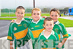 MITCHELS: Having a great time at the official opening of John Mitchels GAA Sports Complex on Sunday l-r: Robert Kerins, Sean Dillane, Andrew Kerins and Conor Kerins.