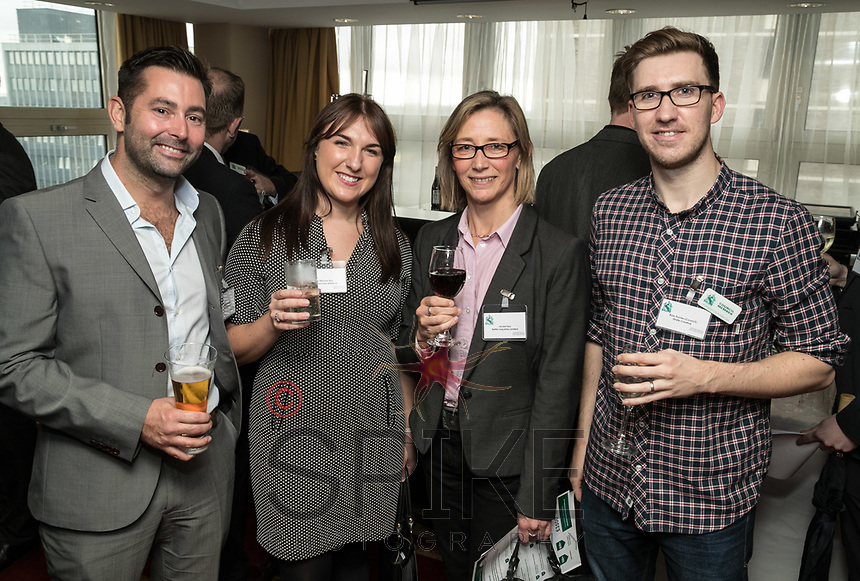 Pictured from left are Will Bottomly of NG1 City Cleaners, Catherine Bird of De Vere EMCC and Orchard Hotel, Jackie Key of Better Industries and Ross Davies of Strafe Creative