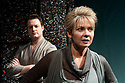"""03/02/2011. """"A Rude Awakening"""", written by Dr Barry Peters and directed by Olivia Rowe, opens at the New End Theatre, Hampstead. Jonathan Woodward (as Tom Holdsworth) and Lucy Newman-Williams (as Rustina Loveday). Picture credit should read: Jane Hobson"""