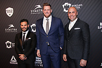 NEW YORK, NY - DECEMBER 5:  Jose Altuve, J.J. Watt and Carlos Beltran at the 2017 Sports Illustrated Sportsperson Of The Year Awards at Barclays Center on December 5, 2017 in New York City. Credit: Diego Corredor/MediaPunch /NortePhoto.com NORTEPHOTOMEXICO
