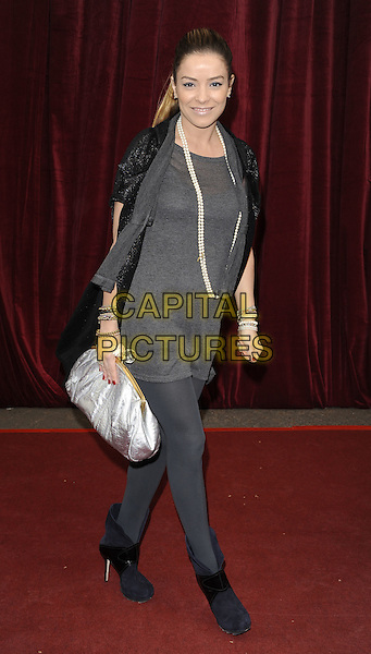 ELEN RIVAS .'An Audience with Michael Buble' at the London ITV Studios, South Bank, London, England..May 3rd, 2010.full length grey gray top leggings silver clutch bag pearl necklace.CAP/CAN.©Can Nguyen/Capital Pictures.