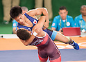 (T-B) Shinobu Ota (JPN), Ismael Borrero Molina (CUB), AUGUST 14, 2016 - Wrestling : Men's Greco-Roman 59kg final match at Carioca Arena 2 during the Rio 2016 Olympic Games in Rio de Janeiro, Brazil. (Photo by Enrico Calderoni/AFLO SPORT)