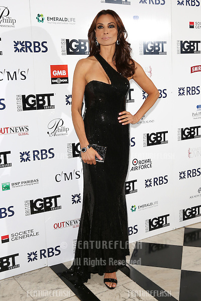 Melanie Sykes at The British LGBT Awards at the Grand Connaught Rooms, London.<br /> May 13, 2016  London, UK<br /> Picture: James Smith / Featureflash