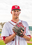 28 February 2016: Washington Nationals pitcher A.J. Cole poses for his Spring Training Photo-Day portrait at Space Coast Stadium in Viera, Florida. Mandatory Credit: Ed Wolfstein Photo *** RAW (NEF) Image File Available ***